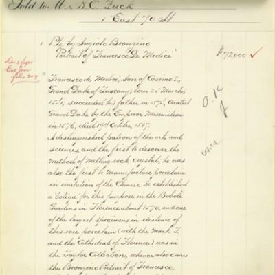 M. Knoedler & Co. Invoice, 27 November 1915
