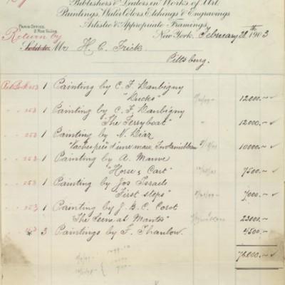 M. Knoedler & Co. Credit Bill, 28 February 1903