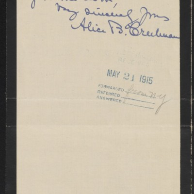 Letter from Alice B. Creelman to H.C. Frick, 19 May 1915 [page 4 of 4]