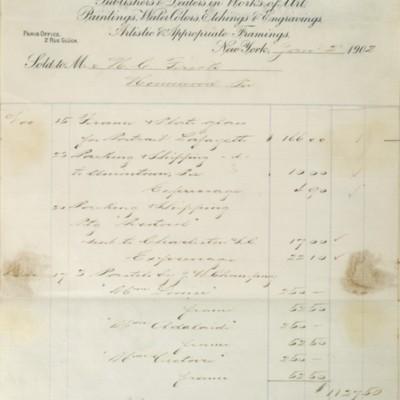 M. Knoedler & Co. Invoice, 2 January 1902