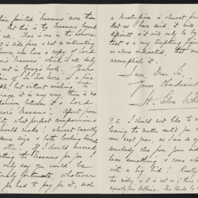 Letter from H. Silva White to H.C. Frick, 31 October 1912 [page 2 of 2]