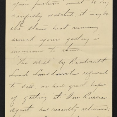 Letter from Charles S. Carstairs to [Henry Clay] Frick, 12 August 1906 [page 2 of 6]