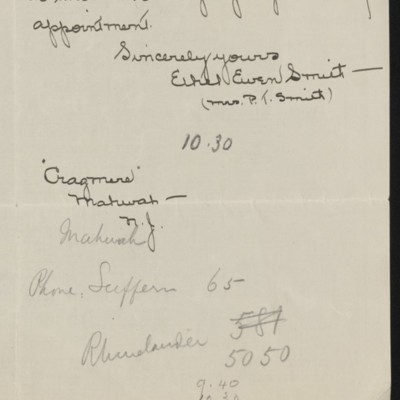 Letter from Ethel Ewen Smith to Henry C. Frick, 23 March 1919 [page 2 of 2]