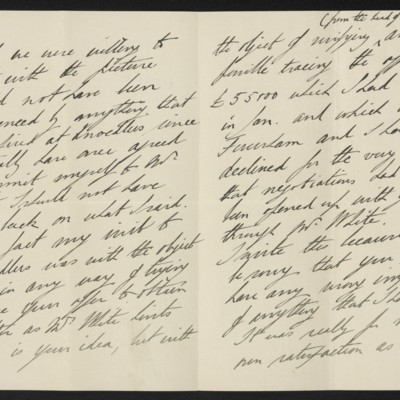 Letter from the Viscount Helmsley [Earl of Feversham] to Henry Clay Frick, 26 April 1912 [page 2 of 3]