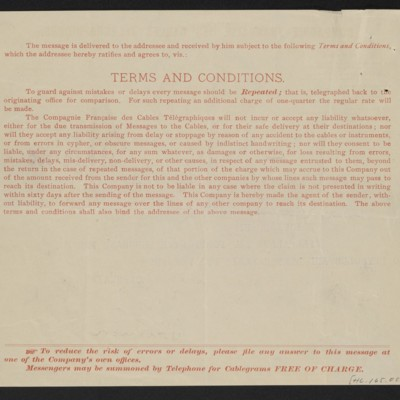 Cable from [Charles S.] Carstairs to [Henry Clay Frick], 18 September 1906 [back]