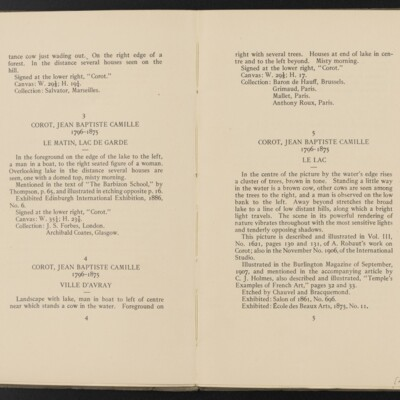Catalogue of the Henry C. Frick Collection of Paintings, 1908 [pages 4-5]