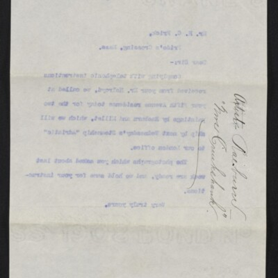 Letter from M. Knoedler & Co. to H.C. Frick, 22 August 1910 [back]