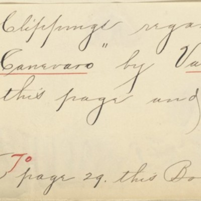 Memorandum prepared by Henry Clay Frick's secretary, circa 1908