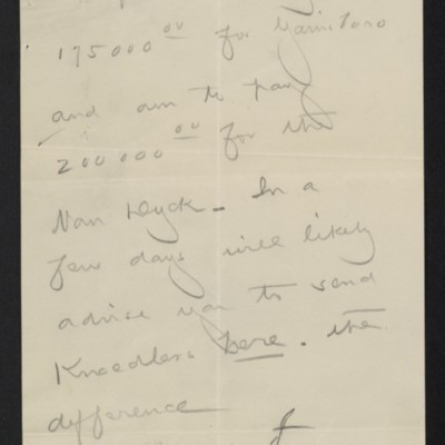 Memo by [Henry Clay Frick] regarding payment for paintings, circa 30 September 1909