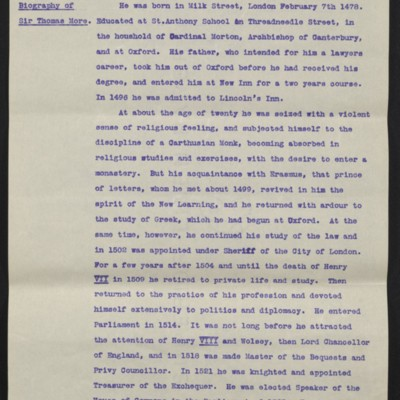 "Information regarding Hobein's ""Sir Thomas More,"" circa August 1912 [page 2 of 10]"