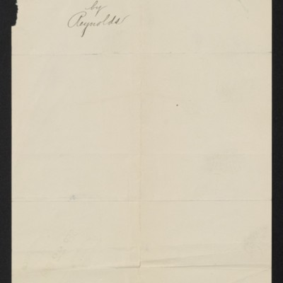 Note by Henry Clay Frick regarding Reynolds painting, 21 September 1909 [back]