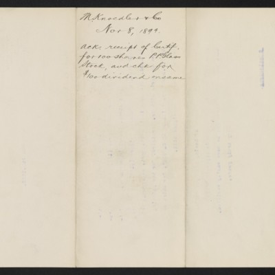 Letter from M. Knoedler & Co. to Henry Clay Frick, 8 November 1899 [back]
