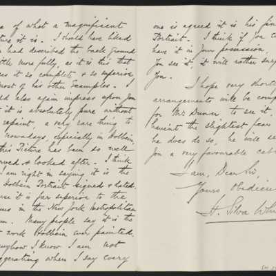 Letter from H. Silva White to H.C. Frick, 1 November 1912 [page 2 of 2]
