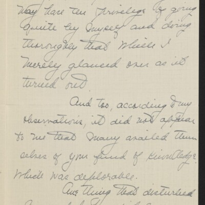 Letter from Jane Fitz Turner to [J. Howard] Bridge, 27 February 1918 [page 2 of 4]