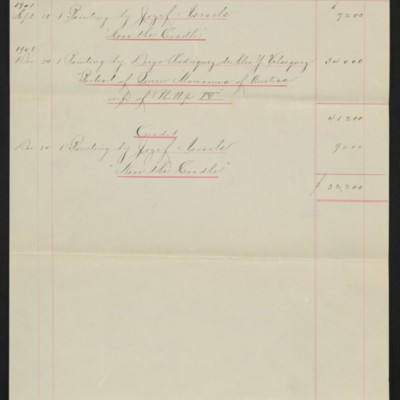 List of works purchased from M. Knoedler & Co., circa 1913