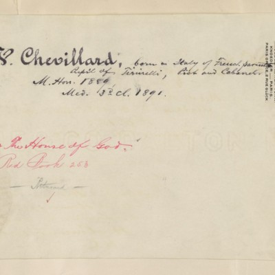 Chevilliard biography prepared by M. Knoedler & Co., circa 1895