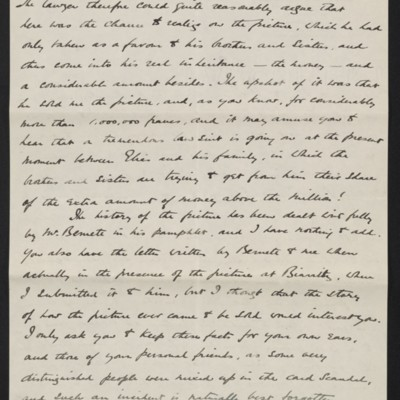 Letter from Charles Romer Williams to [Henry Clay] Frick, 27 February 1911 [4 of 5]