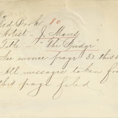 Memorandum prepared by Henry Clay Frick's secretary, circa 1906