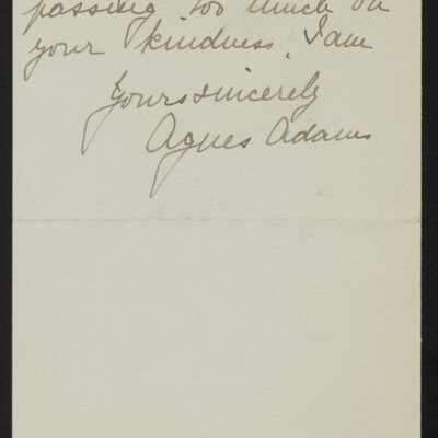 Letter from Agnes Adams to [H.C.] Frick, 11 February 1918 [page 2 of 2]