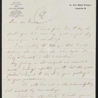 Letter from Charles S. Carstairs to Henry Clay Frick, 2 [June] 1908
