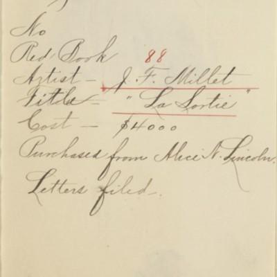Memorandum prepared by Henry Clay Frick's secretary, 21 August 1908