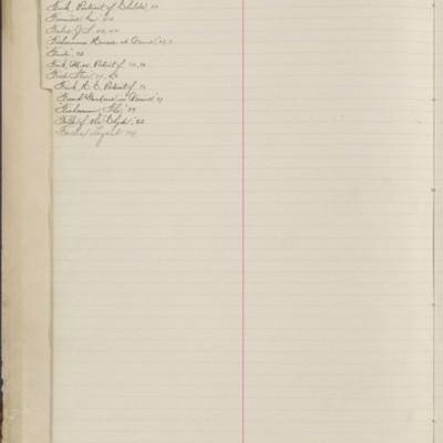 Bill Book No. 1, Index F