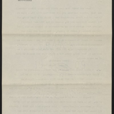 Copy of a letter from Roger Fry to H.C. Frick, 10 July 1911 [back of page 2]