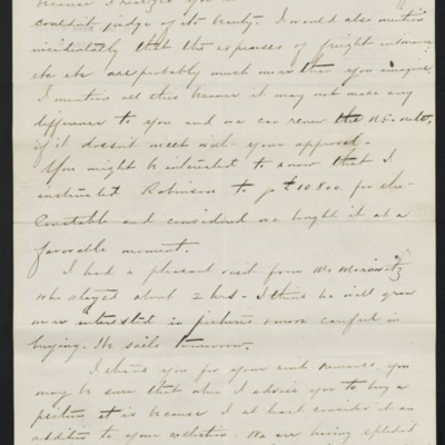 Letter from Charles S. Carstairs to [Henry Clay] Frick, 14 August 1908 [page 2 of 2]