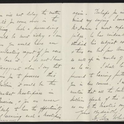 Letter from H. Silva White to H.C. Frick, 13 November 1912 [page 2 of 2]