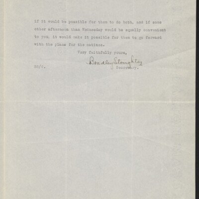 Letter from Bradley Stoughton to Henry C. Frick, 17 November 1917 [page 2 of 2]