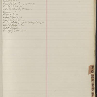 Bill Book No. 1, Index P