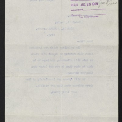 Letter from M. Knoedler & Co. to Henry Clay Frick, 24 August 1909 [back]