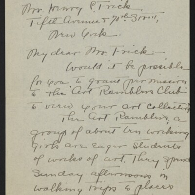 Letter from Ruth Brittain Dexter to Henry C. Frick, 17 November 1918 [page 1 of 2]