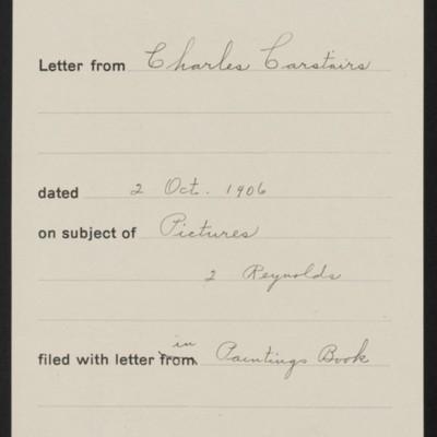 Memorandum, Office of Henry Clay Frick, 2 October 1906