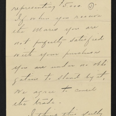 Letter from Charles S. Carstairs to [Henry Clay] Frick, 1 September 1906 [page 2 of 3]