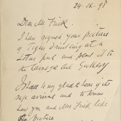 Letter from John M. Swan to Henry Clay Frick, 24 November 1898