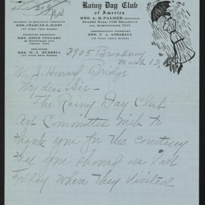 Letter from Edith M. Bridge to J. Howard Bridge, 12 March 1918 [page 1 of 4]