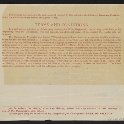Cable from [Charles S.] Carstairs to [Henry Clay Frick], 17 October 1906 [back]