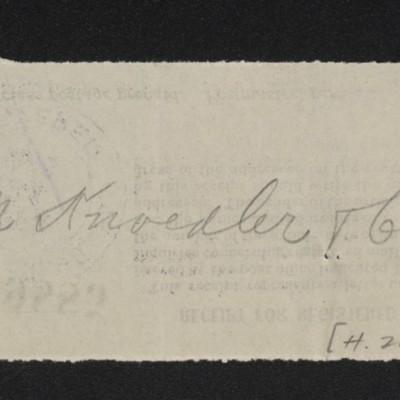 Receipt for registered mail, 24 Feburary 1913 [back]