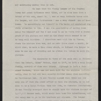 Copy of a letter from Charles Romer Williams to [Henry Clay] Frick, 27 February 1911 [page 2 of 4]