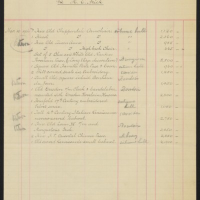 Account Statement, [Duveen Brothers], 10 November 1906