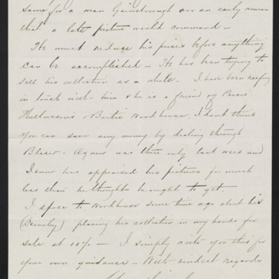 Letter from Charles Carstairs to [Henry Clay] Frick, 20 November 1908 [page 2 of 2]