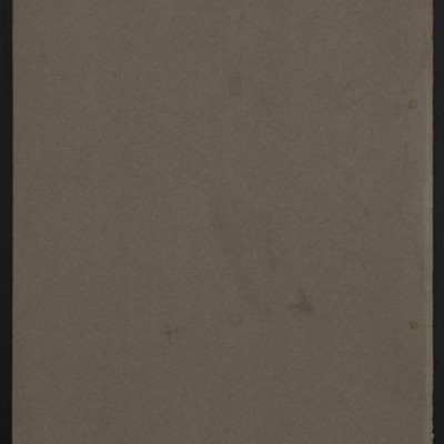 "Brochure entitled ""Portrait of Sir Thomas More, by Hans Holbein (The Younger),"" circa 1912 [back cover]"