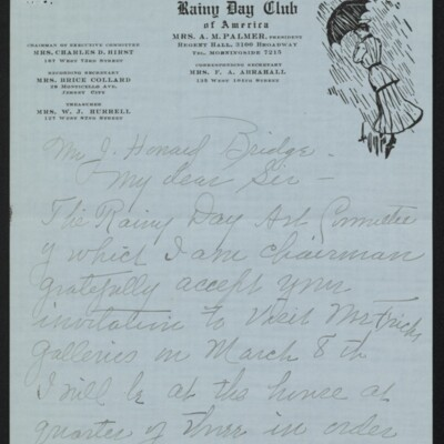 Letter from Edith M. Bridge to J. Howard Bridge, 3 March 1918 [page 1 of 4]