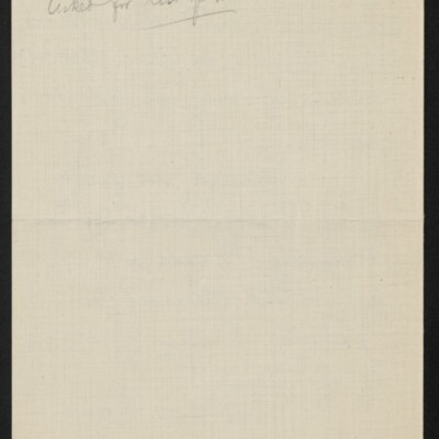 Letter from Jane Fitz Turner to [H.C.] Frick, 29 January 1918 [back of page 3]