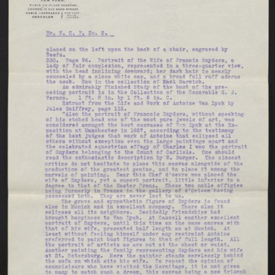 Letter from M. Knoedler & Co. to Henry Clay Frick, 28 September 1909 [page 2 of 3]