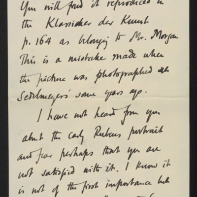 Letter from Roger Fry to [H.C.] Frick, 10 July 1911 [page 4 of 8]