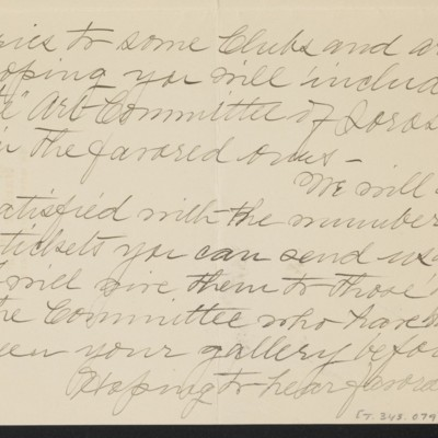 Letter from Emma F. Turtle to [H.C.] Frick, 20 November 1919 [page 3 of 4]