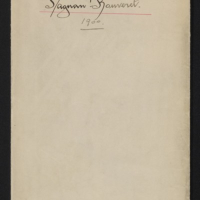"Envelope for papers relating to shipping, etc. of Dagnan-Bouveret's ""Consolatrix Afflictorum,"" 1900"