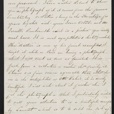 Letter from Charles Carstairs to [Henry Clay] Frick, 13 November 1908 [page 2 of 4]